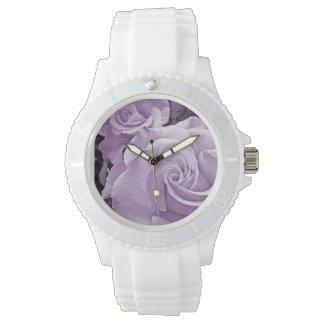 紫色のバラ-腕時計 腕時計