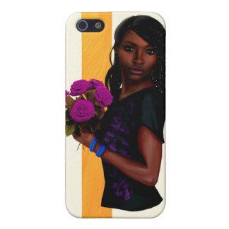 紫色のバラ iPhone 5 COVER