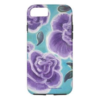 紫色のバラ iPhone 8/7ケース