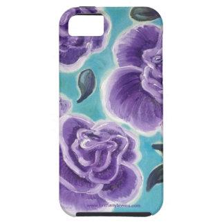 紫色のバラ iPhone SE/5/5s ケース