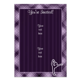 紫色のバレエ カード