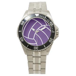 紫色のバレーボールの腕時計 腕時計