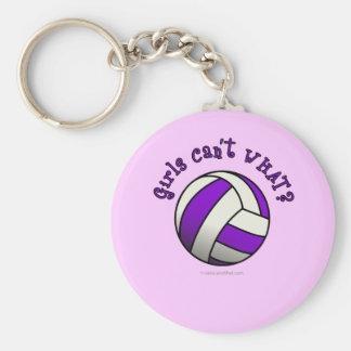 紫色のバレーボール キーホルダー