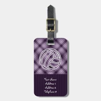 紫色のバレーボール ラゲッジタグ