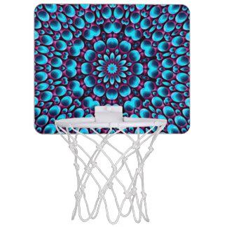 紫色のパイパーのヴィンテージの万華鏡のように千変万化するパターンのバスケットボールバスケ ミニバスケットボールゴール