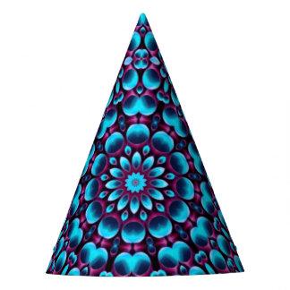 紫色のパイパーの万華鏡のように千変万化するパターンの   カスタマイズ可能なパーティーの帽子 パーティーハット