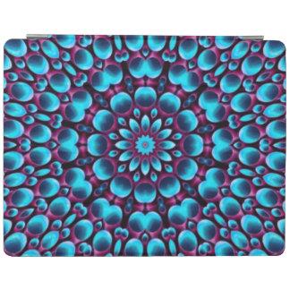 紫色のパイパーの万華鏡のように千変万化するパターンのiPadの頭が切れるなカバー iPadスマートカバー