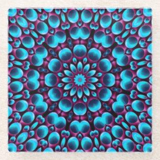 紫色のパイパー   ガラスのコースター ガラスコースター