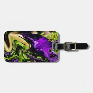 紫色のパニック ラゲッジタグ