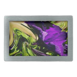 紫色のパニック 長方形ベルトバックル