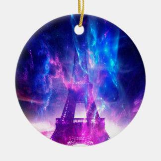 紫色のパリの夢 セラミックオーナメント