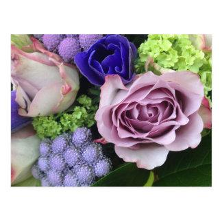紫色のパリの花 ポストカード