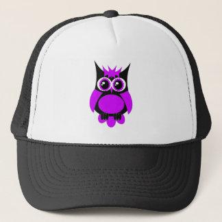 紫色のパンクのフクロウ キャップ