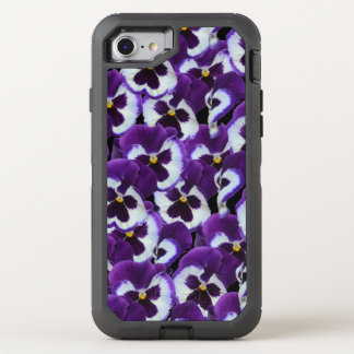 紫色のパンジーのオッターボックスのAppleのiPhone 7の擁護者の箱 オッターボックスディフェンダーiPhone 8/7 ケース
