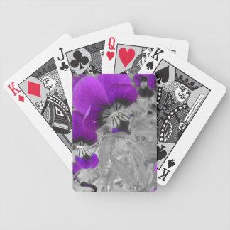 紫色のパンジーの効果 バイスクルトランプ
