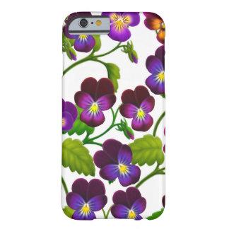 紫色のパンジーの庭によってはiPhone6ケースが開花します Barely There iPhone 6 ケース