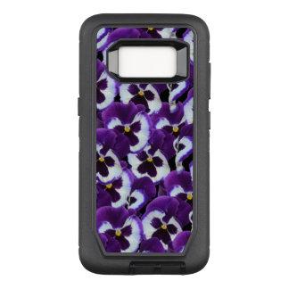 紫色のパンジーの擁護者のSamsungの銀河系S8の箱 オッターボックスディフェンダーSamsung Galaxy S8 ケース