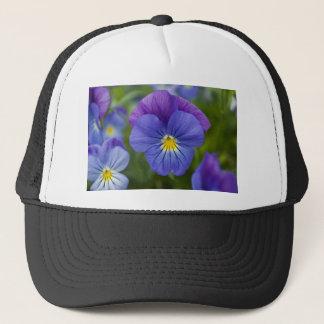 紫色のパンジー キャップ