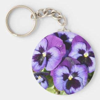 紫色のパンジー キーホルダー
