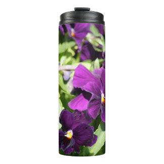 紫色のパンジー タンブラー