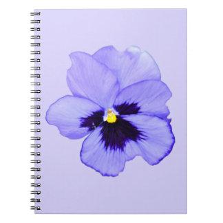 紫色のパンジー ノートブック