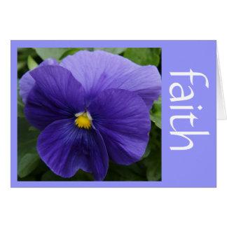 紫色のパンジー、信頼(ルーク)のwの聖なる書物、経典の詩 カード