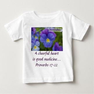 紫色のパンジー- Cheerfulness ベビーTシャツ