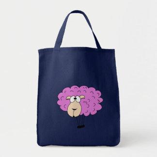 紫色のヒツジ トートバッグ