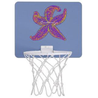 紫色のヒトデThunder_Cove色 ミニバスケットボールゴール