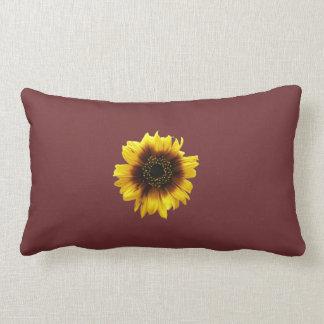 紫色のヒマワリの枕 ランバークッション