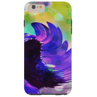 紫色のヒマワリの渦巻のiPhone 6のプラスの場合 Tough iPhone 6 Plus ケース