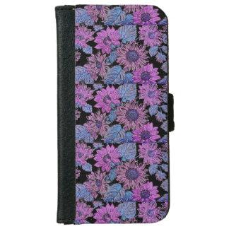 紫色のヒマワリのIphone 6/6sの財布の電話箱 iPhone 6/6s ウォレットケース