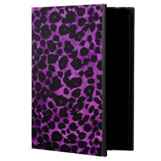 紫色のヒョウのアニマルプリントのiPadの箱 Powis iPad Air 2 ケース
