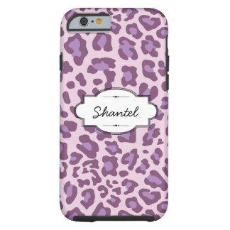 紫色のヒョウのプリントの習慣のiPhone6ケース ケース