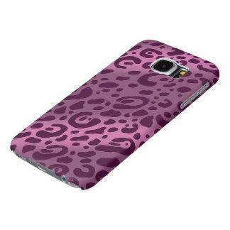 紫色のヒョウのプリントの銀河系S6の箱 SAMSUNG GALAXY S6 ケース