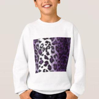 紫色のヒョウ スウェットシャツ