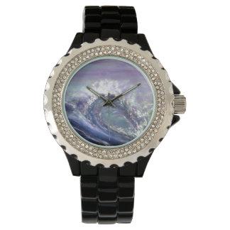 紫色のビーチの波 腕時計