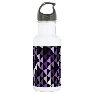 紫色のピラミッドパターン02 ウォーターボトル