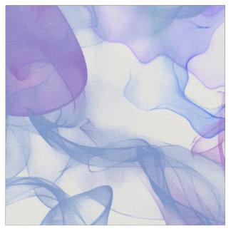 紫色のピンクおよび青の抽象的な煙 ファブリック