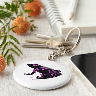 紫色のピンクのカエルのキーホルダーATELOPUS キーホルダー
