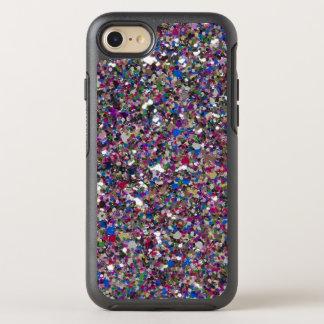 紫色のピンクのグリッターのカッコいいのカラフルな上品の輝き オッターボックスシンメトリーiPhone 8/7 ケース