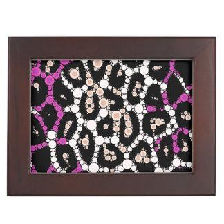 紫色のピンクのチータの円の抽象芸術 ジュエリーボックス