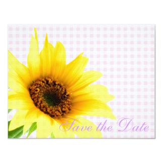 紫色のピンクの国のヒマワリの花嫁の花柄パターン カード
