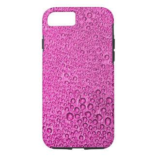 紫色のピンク上の水凝縮のしぶき iPhone 8/7ケース