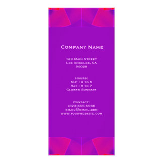 紫色のピンク ラックカード