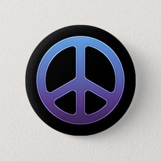 紫色のピースサインボタン 缶バッジ