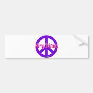 紫色のピースマーク バンパーステッカー