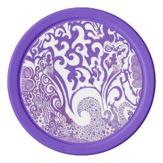 紫色のファンクのポーカー用のチップ ポーカーチップ