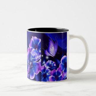 紫色のファンタジー ツートーンマグカップ