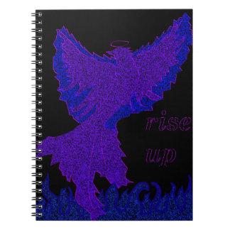 紫色のフェニックスのインスピレーションのノート ノートブック